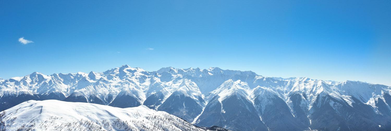 Панорама Сванетского хребта