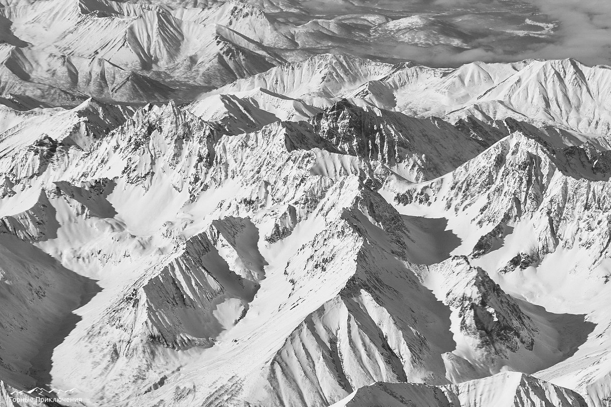 Вид на массив Ганальские Востряки с самолета