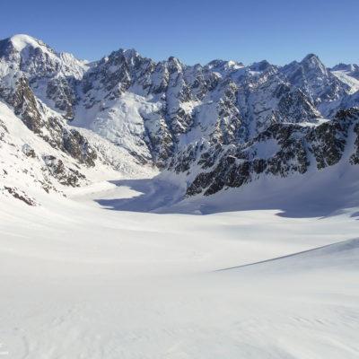 Поля ледника Ушба